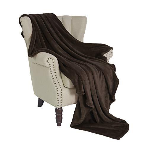 Exclusivo Mezcla Flannel Fleece Velvet Plush Soft Throw Blanket - 50
