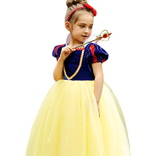 CQDY Snow White Costume for Girls Dress up