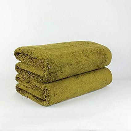 EL DRAGON BLANCO Pack de 2 Toallas Ducha Algodón 600 gr/m2 Verde ...