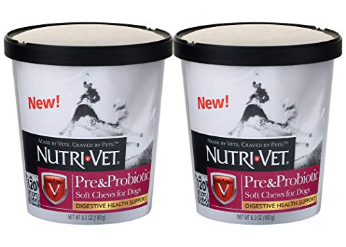 Nutri-Vet Pre and Probiotic Soft Chew for Dogs, 120 Count - Pack of 2