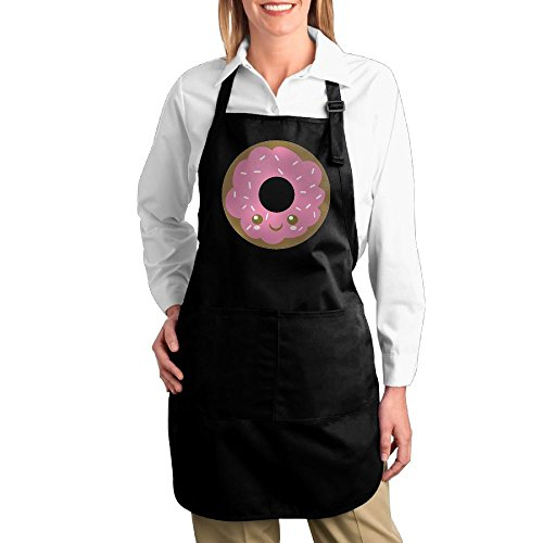 Joapron Cute Pink Donut Fashions Pinafore For Washhouse Black Size One - Delivery Hut Pizza Ipswich
