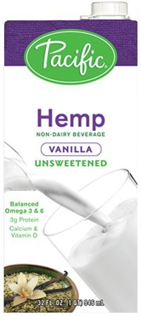Pacific Foods, Unsweetened Hemp - Vanilla (Pack of 6) by Pacific Foods