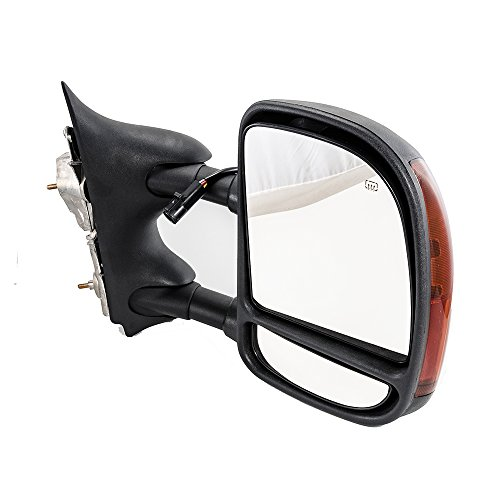 Hex Autoparts Power Heated Towing Signal Side View Mirror Passenger Right for 2002-2005 Ford Excursion / 1999-2007 F250 F350 / 1999-2003 F450 F550 Super Duty Truck