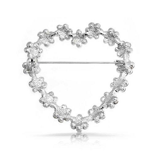 Bling Jewelry cadeaux Rose Topaz Crystal fleur gerbe fleurs coeur éclat nuptiale