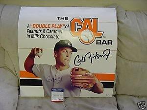 cal ripken autograph 20 x 20 candy bar poster psa dna at amazon s