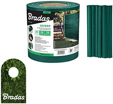 Bradas 0261 - Valla de ocultación (19 cm x 35 m), Color Verde: Amazon.es: Jardín