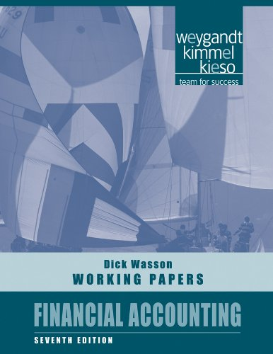 Financial Accounting, Working Papers (Financial Accounting Working Papers)