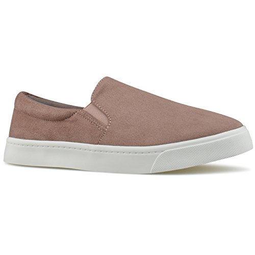 Everyday Women's Blush Walking Premier Easy Casual Dark R Fashion Shoe Standard Slip on YHP5WF14