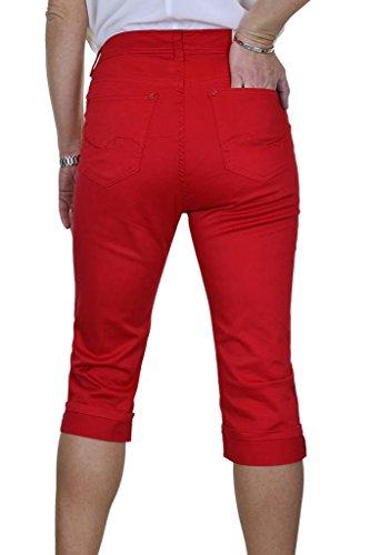 Femme Ice avec Stretch Cropped Rouge Capri Jeans PqqfzwF