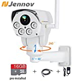 Jennov Full HD 2.0MP 1080P Wifi IP Wireless Security Cameras Outdoor ...