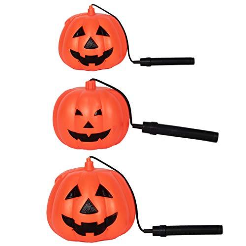 Coxeer Halloween Lantern Jack O Lantern Pumpkin Light Party Favor Handheld Lamp for Kids