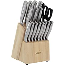 Oneida 18-Pc Stainless Steel Cutlery Block Set