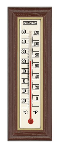 Springfield Wood Grain Indoor Thermometer]()