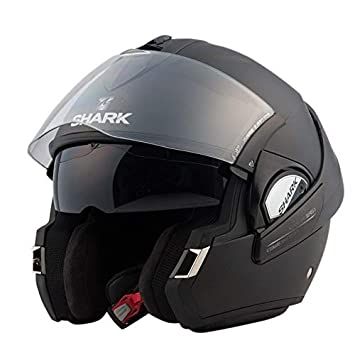 Shark Casco, color Negro, talla S