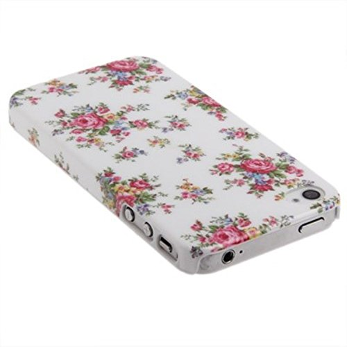 Etui coque rigide pour téléphone portable iPhone 4& 4S roses/Blanc