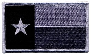 Texas State Flag Patch (Hook & Fastener) Size 3-3/8 x 2