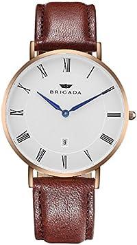 BRIGADA 高級 薄い 時計 レディース ブランド 人気、ブラウン 可愛い ファッション 腕時計 レディース ブランド 人気、自分用もしくは親戚お友達恋人へ贈る レディース 腕時計