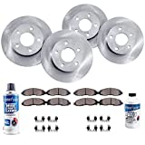 Detroit Axle - All (4) Front and Rear Disc Brake Rotors w/Ceramic Pads w/Hardware & Brake Cleaner for 2012-2016 Chrysler Town & Country/Dodge Grand Caravan/Jouney - [12-15 Ram C/V] - 12-13 VW Routan