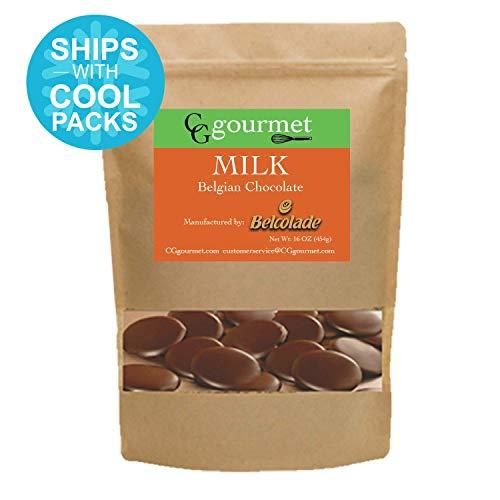 16 Belgian Chocolate - Belcolade Belgian Baking Milk Chocolate Discs - 16 OZ (1LB)