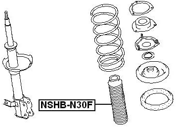 For Nissan 540505V010 Front Shock Absorber Boot