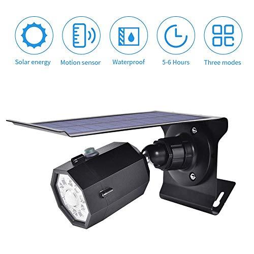 Solar Lights Outdoor Motion Sensor, 10 LEDs Spot Lights, Solar Security Flood Light for Front Door, Back Yard, Driveway, Garden, Waterproof, Wireless, Porch, Patio, Garage
