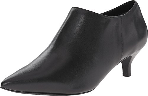 Trotters Women's Pearl Pointed Bootie,Black Full Grain Soft Nappa Leather,US 7.5