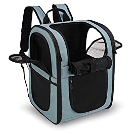apollo walker Pet Carrier Backpack for Large/Small Cats and Dogs, Puppies, Safety Features and Cushion Back Support for Travel, Hiking, Outdoor Use