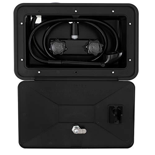 - RecPro Black RV Exterior Shower Box Kit Faucet Hose Camper Trailer Cowboy Shower