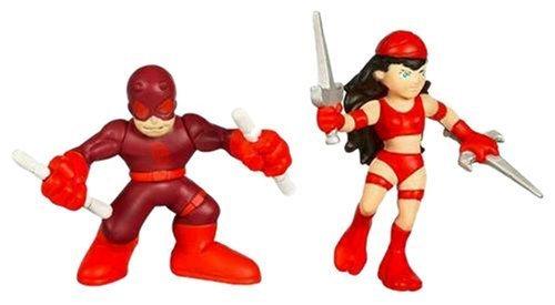 Marvel Super Hero Squad - Daredevil and Elektra by Hasbro (Elektra Superhero)