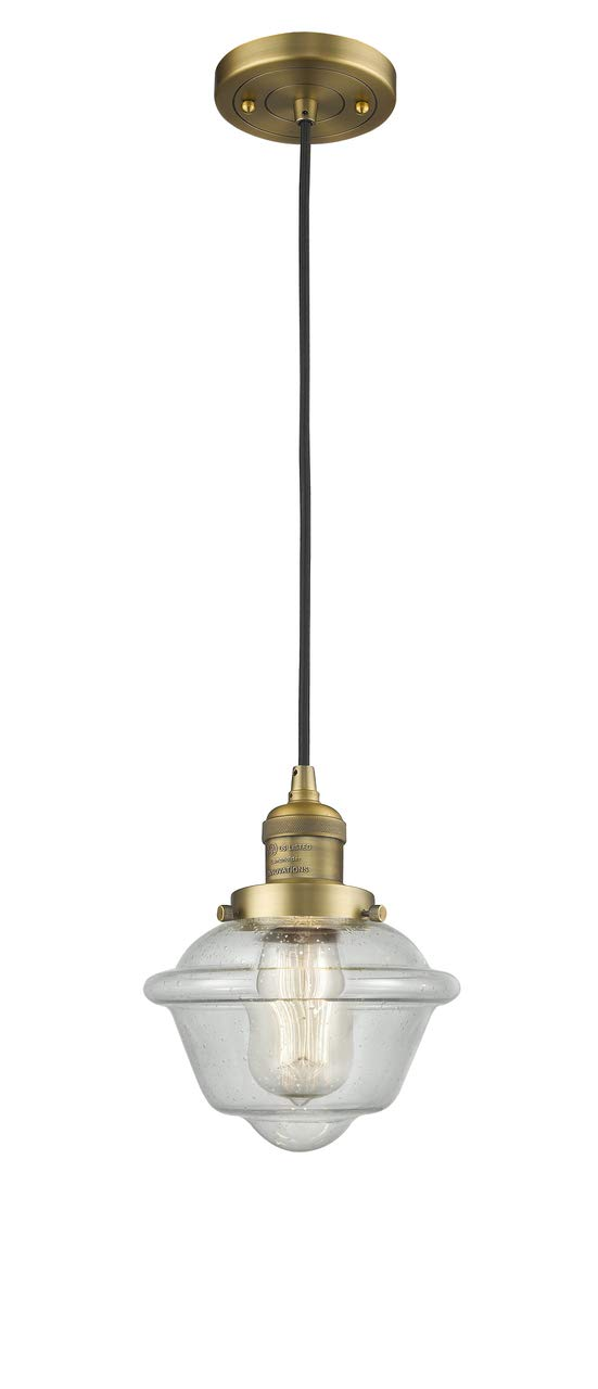 Innovations 201C-BB-G534-LED 1 Light Vintage Dimmable LED Mini Pendant Brushed Brass