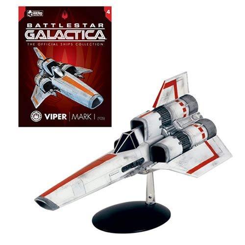 Eaglemoss Battlestar Galactica The Official Ships Collection: #04 Viper Mk 1 (Classic Series) Ship Replica, Multicolor AUG182607