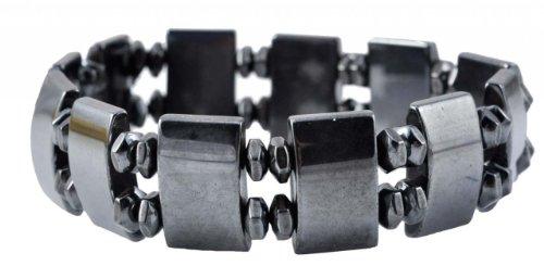 Black Magnetic Stretch Simulated Hematite Beaded Bracelet