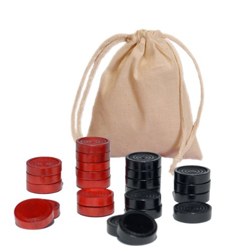 (WE Games Wood Checkers with Stackable Ridge - Red/Black)