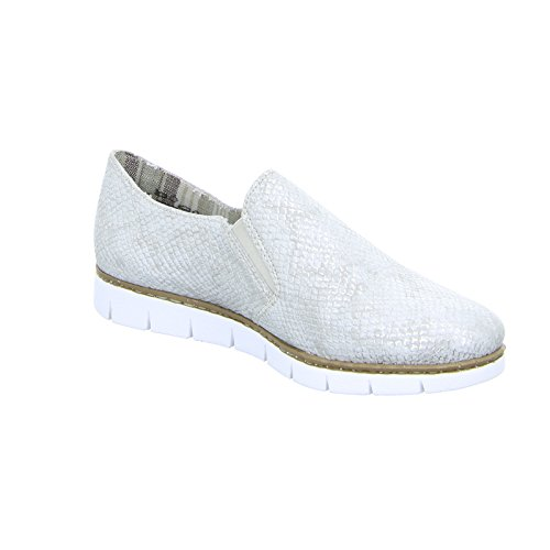 Riekerm1350 - Femme Mocassins, Blanc, Taille 41