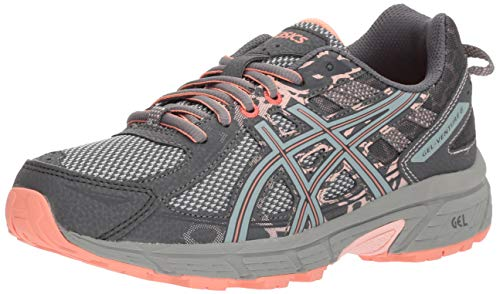 ASICS Gel-Venture 6 Women's Running Shoe, Carbon/Mid Grey/Seashell Pink, 8 M US