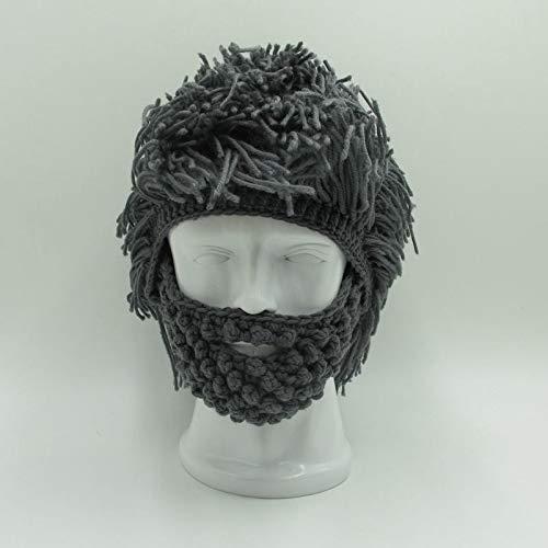 SYH01 Party Mask Beanies Wig Beard Hats Men Women Halloween Gift Hobo Mad -