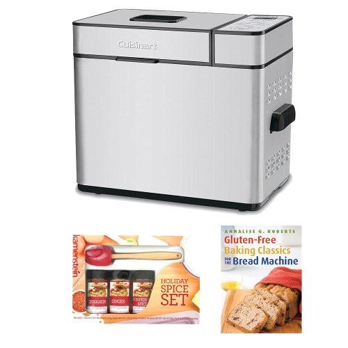 Cuisinart CBK-100 2-Pound Programmable Breadmaker w/ Kamenstein Mini Spatula Spice Set & Gluten-Free Baking Classics (Cuisinart 100 Breadmaker compare prices)