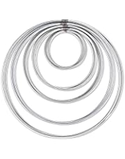 DS. DISTINCTIVE STYLE Metal Hoops Set of 10 Craft Rings Metal Rings for Dream Catcher and Wreath (Silver)
