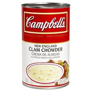 Campbells Condensed New England Clam Chowder - 50 oz. can, 12 per case by Campbell's