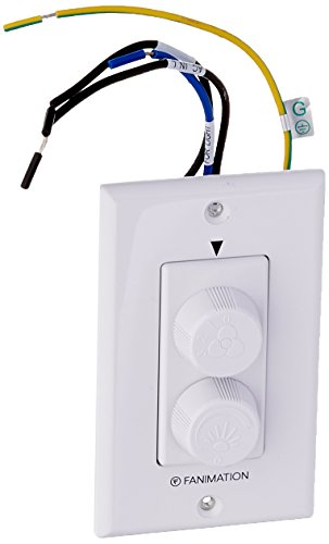 Fanimation CW60WH Wall Control - Fan Speed and Light - White,