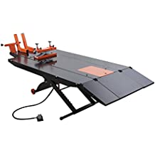 "APlusLift 1500LB Air Operated 48"" Width ATV Motorcycle Lift Table with Side Extensions (Free Service Jack, Free Home Delivery)"