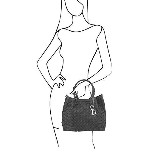 Tuscany Leather - TL KeyLuck - Sac shopping en cuir tressé à main - Beige