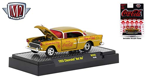 M2 Machines 1955 Chevrolet Bel Air Limited Edition Coca-Cola Release RC02H - 2018 Castline Hobby Edition 1:64 Scale Die-Cast Vehicle & Display Case (RC02 18-60)
