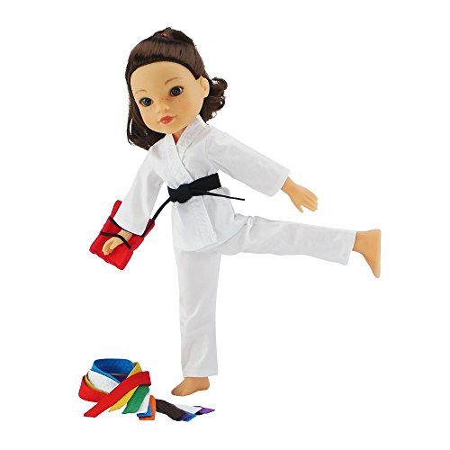14 Inch Doll Clothes/Clothing | Karate Athletic Outfit with All 9 Color...