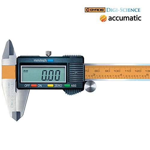 Gyros DIGI-SCIENCE Accumatic Pro Digital Electronic Caliper | Absolute Measurement, Measures up to 0-6