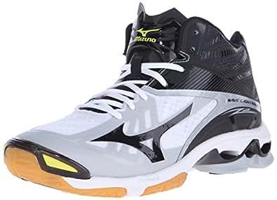 Mizuno Men's Wave Lightning Z2 Mid Volleyball Shoe, White/Black, 16 D US