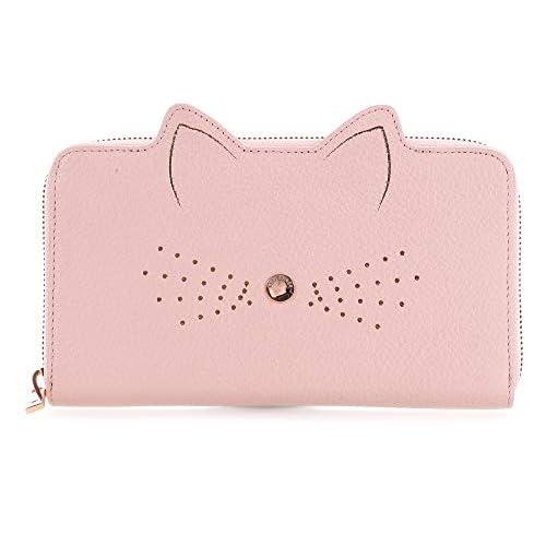 Damen Portmonee Portemonnaie aus Leder Pink 25 Fächer Geldbeutel Lederbörse 381