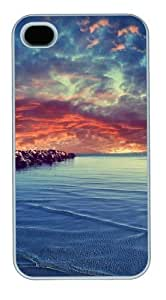 meilz aiaibrand new iphone 4 case Calm sea PC White for Apple iPhone 4/4Smeilz aiai