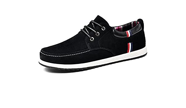 Amazon.com | Anghuluqub Mens Leather Casual Shoes Moccasins Men Loafers Luxury Brand Spring Sneakers Male Boat Shoes Suede Krasovki Black 7 | Loafers ...