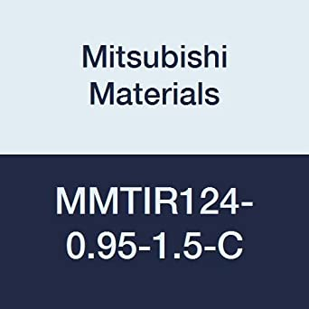 0.750 Shank Dia 1.5/° Angle Mitsubishi Materials MMTIR124-0.95-1.5-C MMTI Series Internal Threading Boring Bar with MMT22IR Insert Right with Coolant 0.950 Cutting Dia.